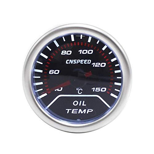 Yongenee 2' (52mm) de Aceite automático Medidor de Temperatura 40-150C Humo len White Aceite Ligero Medidor de Temperatura del Sensor Medidor for el Coche con el Barco del Carro Instrumento