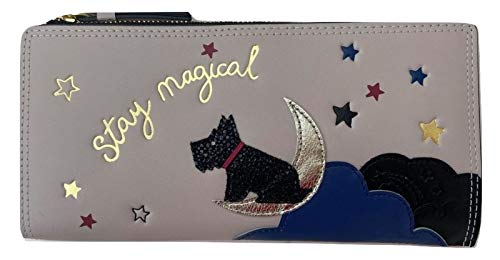 Radley Large Leather Bifold Matinee Purse Wallet Stay Magical in Dove Grey