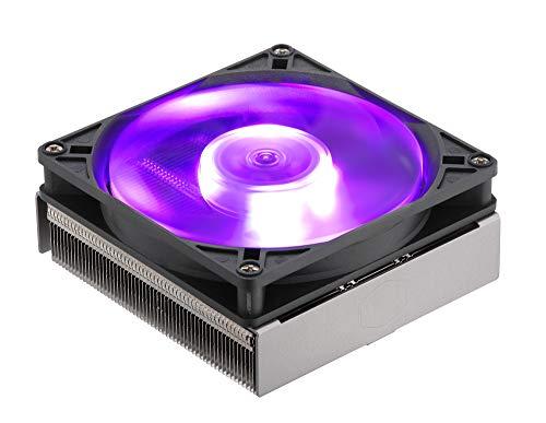 Cooler Master MasterAir G200P Disipador de CPU de Perfil Bajo, Altura de 39.5 mm para Mini-ITX/SFF, Ventilador RGB de Alto Rendimiento de 92mm, 2 Tubos de Calor de Cobre, Compatible con AMD/Intel