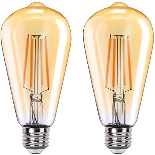 MoKo Smart WLAN Edison Glühbirne, E27 7.5W WiFi Vintage Birne Dimmbar LED Lampe Glühlampe Retro Glühbirnen Kompatibel mit Alexa Echo Google Home SmartThings, Warmweiß Licht Fernsteuerung Timer, 2 Pack