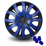 Tapacubos de diseño de CM con Tapones de válvula de Color Azul (OL).