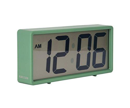 Karlsson Coy horloge, tafelklok, kunststof, groen, één maat