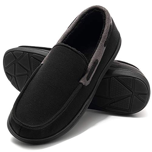 Men's House Slippers Moccasin, Memory Foam Anti-Slip Mules Clogs for Men, Indoor Outdoor Slip On...