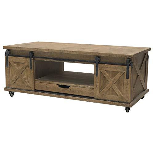 Grote salontafel, industriële, landelijke stijl, hout, 120 cm
