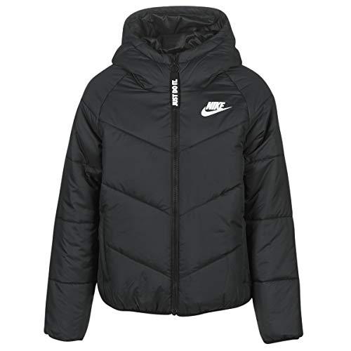 Nike W NSW WR Syn Fill JKT HD Hooded Jacket, Damen S Schwarz, Schwarz, Weiß