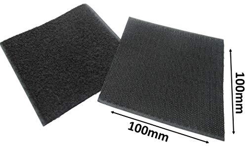MINA-Products 6PAAR 100x100mm Klettverschluss QUADRARTE SELBSTKLEBEND/Klettband Flächen Flausch & Haken mit Klebeflächen – 6X Flausch & 6X Haken-Band