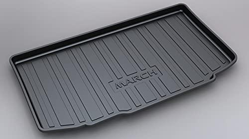 Alfombrilla Para Maletero Coche Para MARCH 2011-2019, Trasera Boot Liner Mat Impermeable Antislip Mat Alfombra De Suelo Mat Antisuciedad