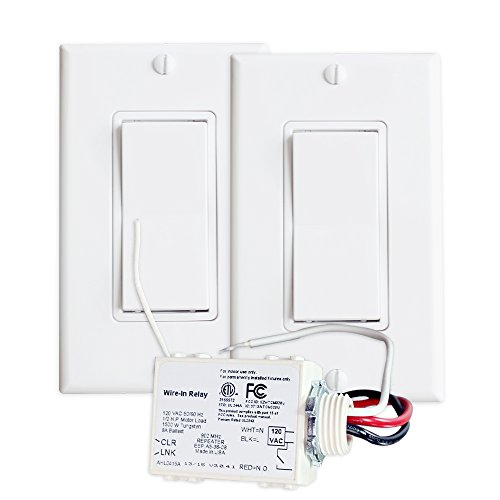 RunLessWire 3-Way Wireless Switch Kit, Self-Powered Rocker Switch, No Wire Light Control Kit
