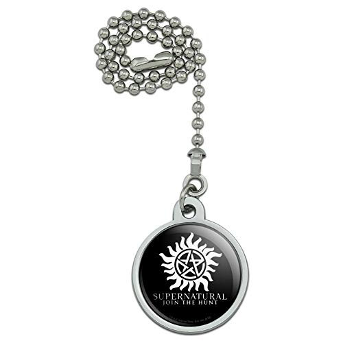 Supernatural Anti Possession Symbol Ceiling Fan and Light Pull Chain