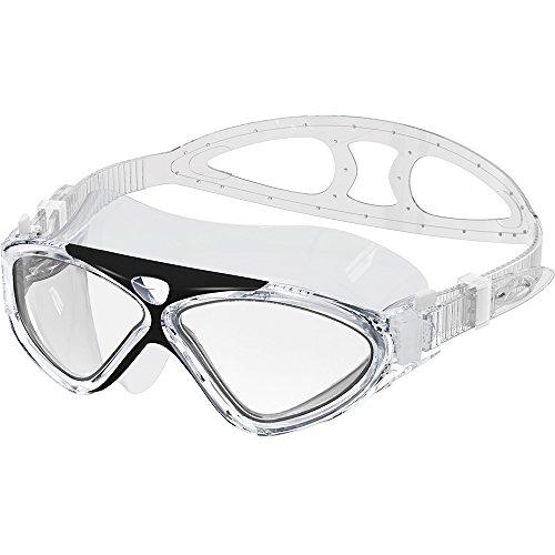 OutdoorMaster Swim Mask - Wide View Swimming Mask & Goggles Anti-fog Waterproof Black