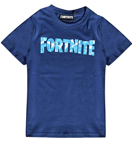 FORTNITE Jungen T-Shirt Gr. 140 152 164 176 10 12 14 16 Jahre Dunkelblau (176)