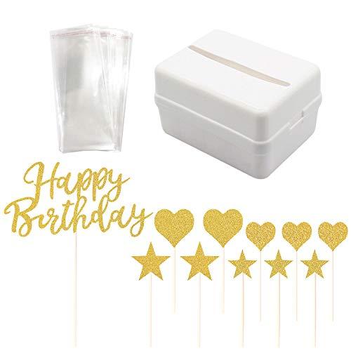 Caja de dinero de pastel,Dinero tirando de la torta Toppers para tartas de cumpleaños y bolsas transparentes Accesorios de dinero para tartas para decoraciones de tartas de fiesta de cumpleaños