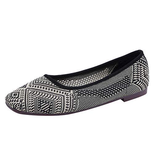 Best Buy! Women Bellet Flats Shoes Boho Print Slip-on Non-Slip Ballerina Casual Shallow Mouth Comfor...