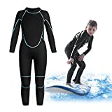 Greatever Kids Wetsuit 3mm Neoprene Thermal Swimsuit Long Sleeve UV Protection for Boys Girls Youth Child Junior Swimming Snorkeling Scuba Diving Surfing