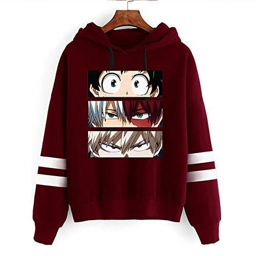 Suéter de Mujer, My Hero Academia Todoroki Anime Pullover Tops Himiko Toga Sudaderas Boku No Hero Academia Izuku Midoriya Hoodies