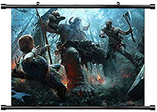 ROUNDMEUP God of War Playstation 4 Game Fabric Wall Scroll Poster (32x22) Inches [VG] God of War 4-3(L)