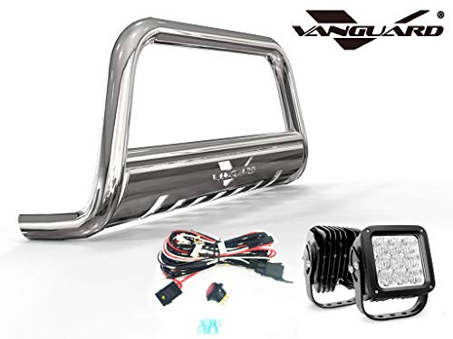 VANGUARD Stainless Steel Bull Bar 4.5in Cube LED Kit | Compatible with 07-18 Acura RDX / 07-16 Honda CR-V
