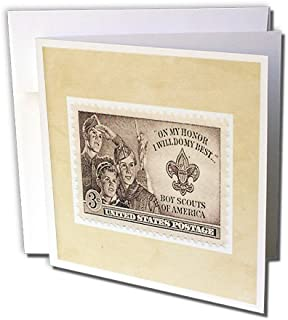 3dRose image of boy scout postage stamp - Greeting Cards, 6 x 6 inches, set of 12 (gc_174645_2)