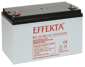 Effekta Blei-Vlies Qualitäts-Batterie BTL 12-100L
