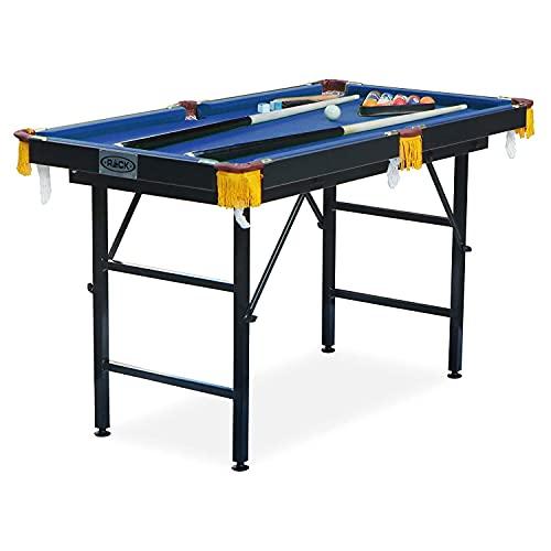 Rack Leo 4-Foot Foldable Billiard / Pool Table (Blue)