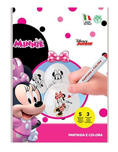 SIAD–Kit Fantasie und Ausmalen (53Filzstifte) Minnie Luftballons zum Ausmalen, mehrfarbig, One Size, 33857