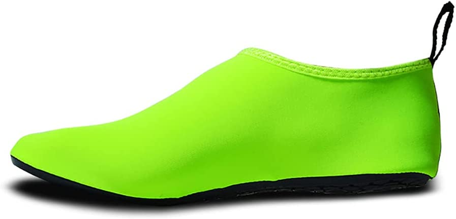 QAOSHOP Unisex Kids Water Shoes, Swim Barefoot Shoes Non-Slip Quick Dry Aqua Socks for Beach, Swimming Pool, Surfing,E,23