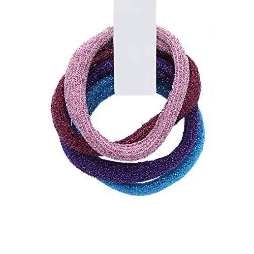 3161-222 - Set 4 pièces Cheveux pour cheveux Paillettes Made in Italy cm 0,5 avec 4 cm de diamètre environ - Couleurs mixtes - Mix Rose