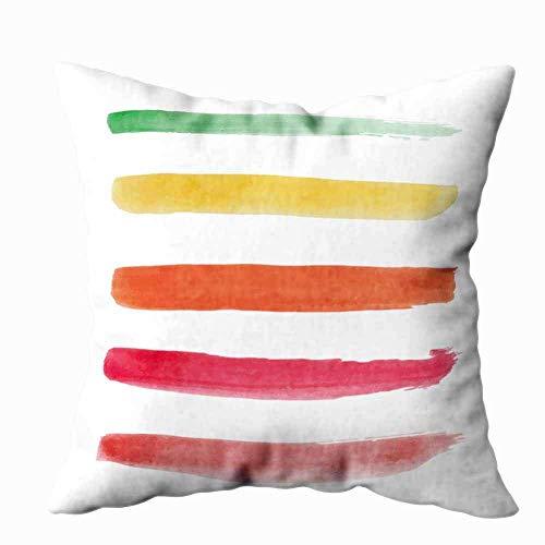 Kissenbezüge werfen, Pinsel Sammlung Ihr Werkzeug in Aquarellstrichen Mehrfarbige gemalte Linien Illustrator