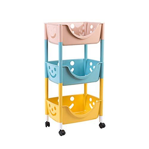 Casiers de rangement Étagère de rangement étagère de rangement étagère de plancher de cuisine de salon étagère de snack de plancher de salle de bains poulie mobile