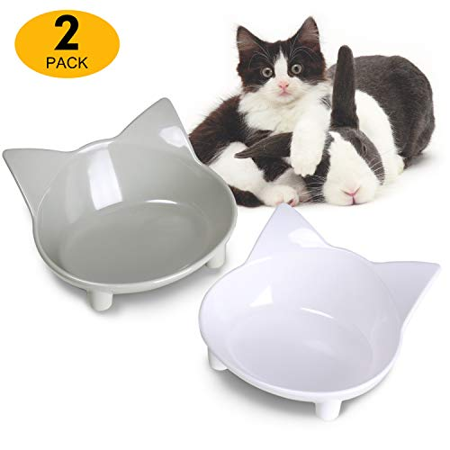 Lesotc - Cuenco antideslizante para gatos, cuenco para comida para gatos, cuenco para gatos, plato para gatos, cuenco para perros pequeños, cuenco para mascotas, alimentador para gatos
