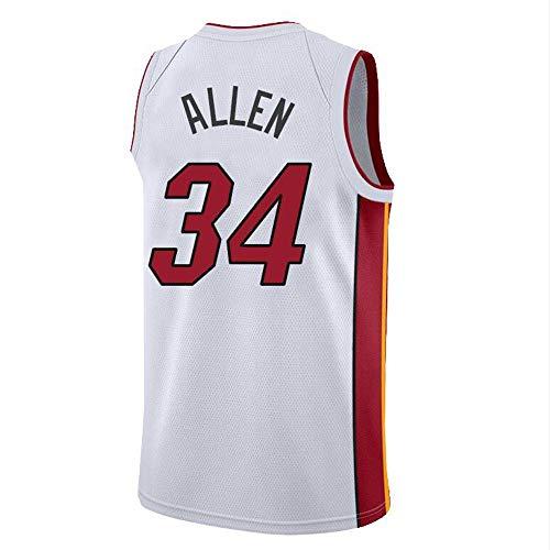 ZAIYI-Jersey Maglia da Basket da Uomo -Ray Allen # 34-Miami Heat- Swingman Maglia Senza Maniche in Jersey (Color : A, Size : S)