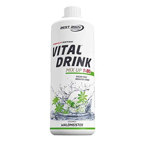Best Body Nutrition Vital Drink Waldmeister, zuckerfreies Getränkekonzentrat, 1:80 ergibt 80 Liter Fertiggetränk, 1000 ml
