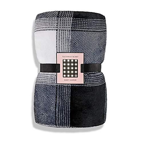 Victoria's Secret Soft Black and White Checker Thorw Blanket
