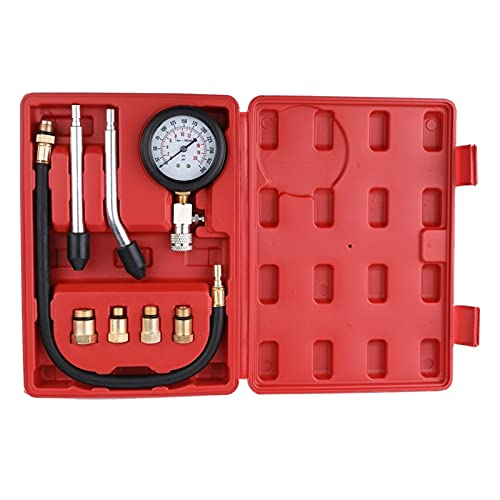 Probador de compresión de motor de gasolina profesional Auto gasolina Motor de gas cilindro Automóvil Prueba de presión de presión automotriz Kit de prueba de automóviles 0-300PSI Herramienta de prueb