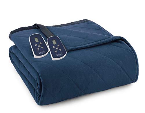 Thermee Micro Flannel Electric Blanket, King, Ultramarine