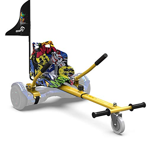 EverCross Hoverboard-Sitz-Befestigung, Hoverboard-Zubehör, kompatibel mit 16,5 cm, 20,3 cm, 21,6 cm, 25,4 cm, selbstbalancierender Roller für alle Altersgruppen, verstellbare Rahmenlänge, Hip Hop