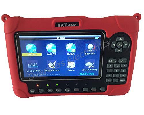 SATLINK WS-6980 DVB-S2   C   T2 COMBO Optika Potenco Malkaŝo konstelacio analizilo   Spektro analyzer Digital Satellite Finder Metro