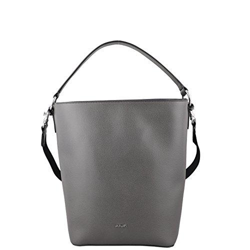Joop! Damen Grano Mina Hobo Svz Henkeltasche, Grau (Dark Grey), 15x31x23 cm