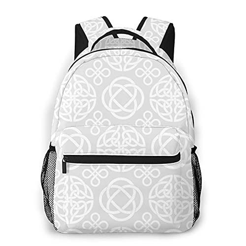 LUDOAN Mochila para portátil de viaje,símbolos de nudo celta,mochila antirrobo resistente al agua para empresas,delgada y duradera