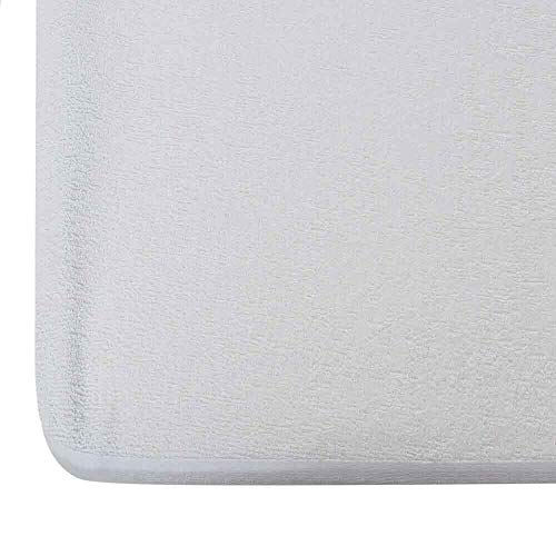 """Wakefit Water Proof Terry Cotton Mattress Protector 78""""x60"""" - Queen Size, White"""