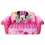 Marshmallow Furniture, Children's 2 in 1 Flip Open Foam Sofa, Minnie Mouse, by Spin...
