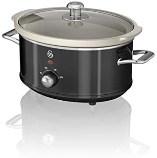 Swan Olla DE COCCION Lenta 3.5 L Color Negro, 200 W, Metal