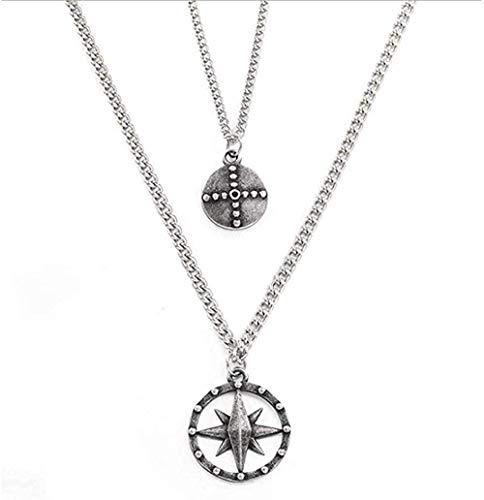 ZGYFJCH Co.,ltd Collar Collar de brújula de Acero de Titani
