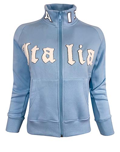 Italia Women's Jacket (Fitted Jacket) Italy Soccer Womens Track jacket For Girls and Adults (Large)