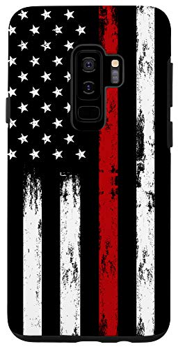 Galaxy S9+ Fireman USA Flag Phone Case Thin Red Line US Firefighter Case