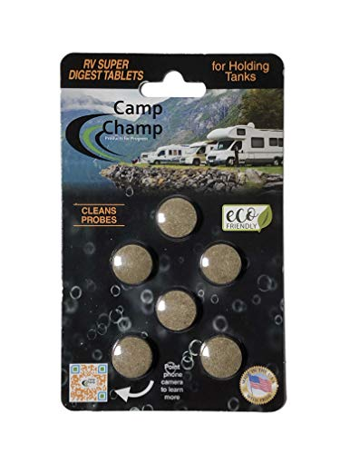 Camp Champ Super Digest for RV Holding Tanks (6 Tablets Per Card) 1 Tablet has Over 31 Trillion microbes That Breaks Down Solids Within 24 Hours!!