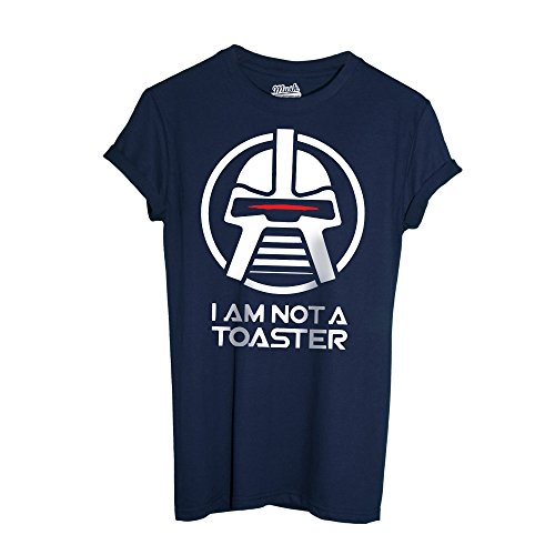 MUSH T-Shirt Battlestar Galactica Cylon Toaster - Film by Dress Your Style - Herren-M-Blau
