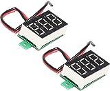 TECNOIOT 2pcs 0.36 Inch 4.5V-32V Mini Digital Voltmeter LED Screen Voltage Tester Meter |2 unids 0.36 Pulgadas 4.5V-32V Mini Digital Voltímetro Pantalla LED Medidor Probador de Voltaje
