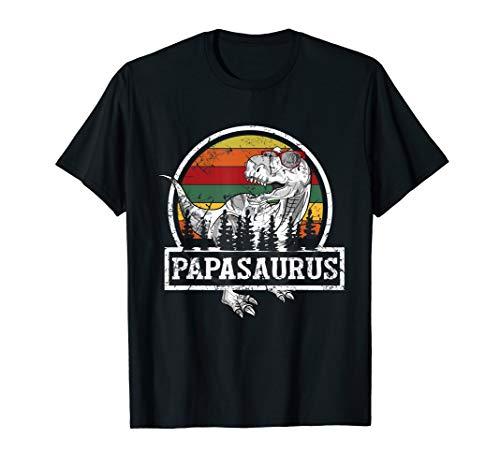 Herren Papasaurus Rex Dinosaur Papa Saurus Family Matching Gift T-Shirt