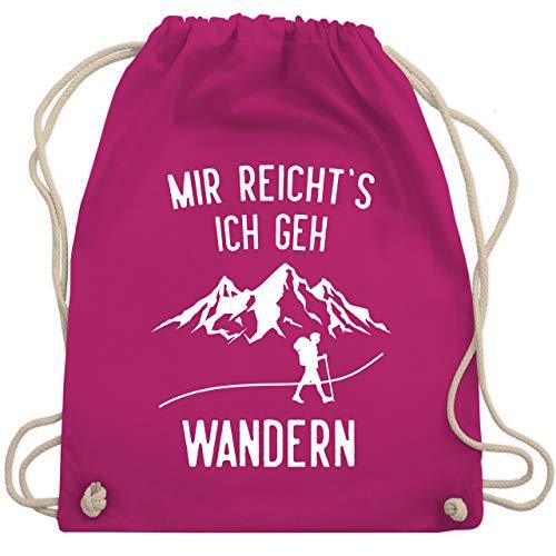 Laufsport - Mir reichts ich geh wandern Berge weiß - Unisize - Fuchsia - mir reichts ich geh wandern -shirt - WM110 - Turnbeutel und Stoffbeutel aus Baumwolle